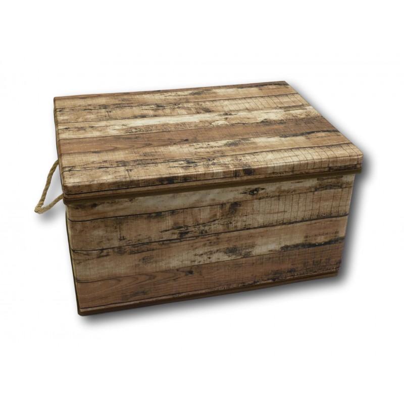 aufbewahrungsbox aufbewahrung box kiste faltbar mit deckel und trageseil aus stoff im holz retro