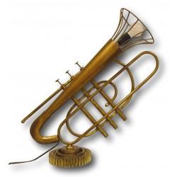 Massive Stehlampe Tischlampe im Stil einer Trompete