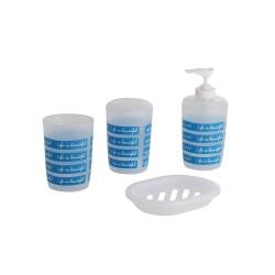4-teiliges Badset aus Kunststoff