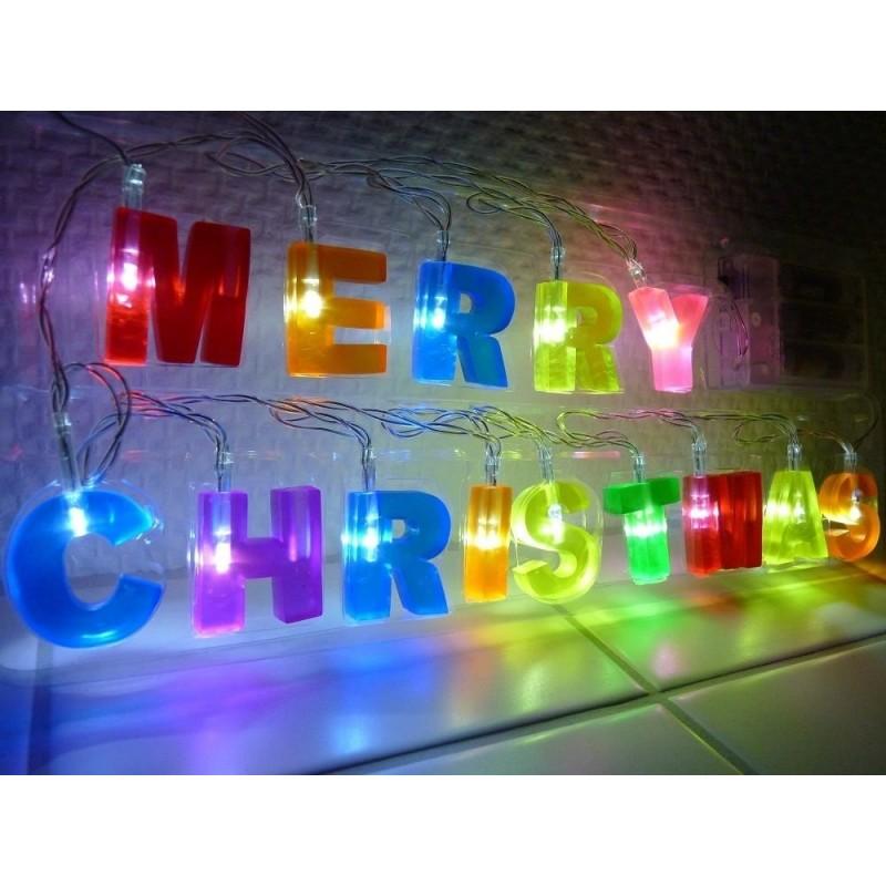Weihnachtsbeleuchtung Bunt.Led Lichterkette Fensterdeko Schrift Schriftzug Merry Christmas Weihnachtsdeko Dekoration Bunt Weihnachtsbeleuchtung Bunt Farbig
