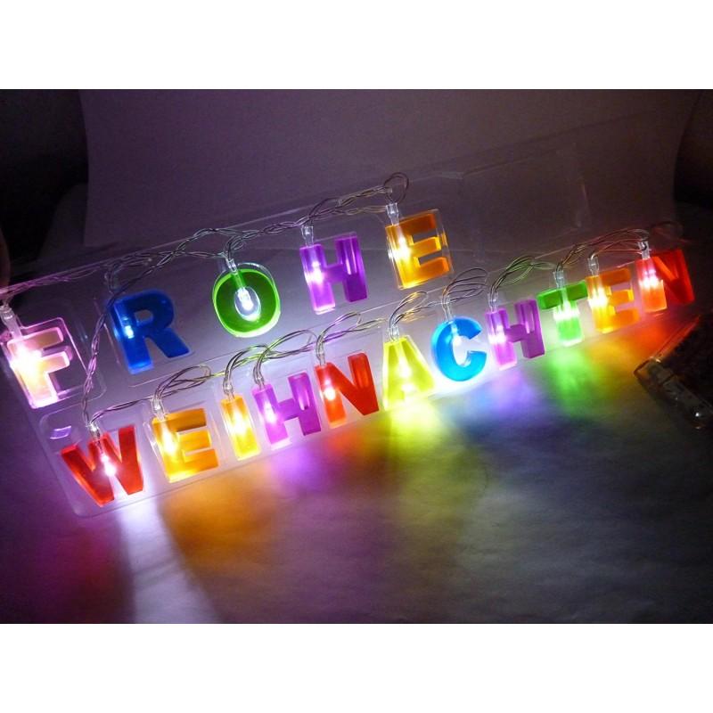 Led Frohe Weihnachten.Led Lichterkette Fensterdeko Schrift Schriftzug Frohe Weihnachten Weihnachtsdeko Dekoration Bunt Weihnachtsbeleuchtung