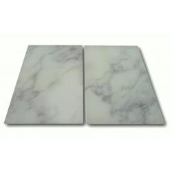 2 x Herdabdeckplatte aus Glas, in Marmor Optik