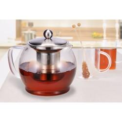 Glas Teekanne 1,2 Liter mit...