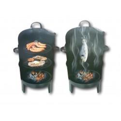 2 Kessel zum Grillen oder Räuchern